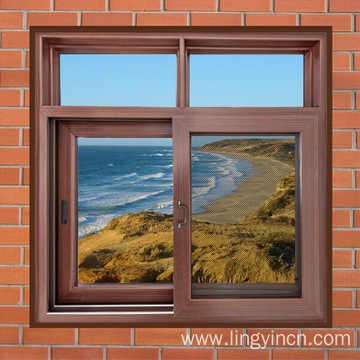 4 panels aluminium sliding window